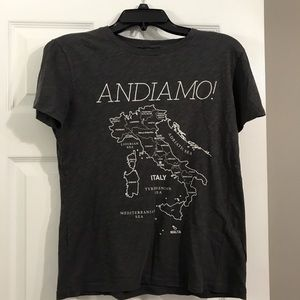 Italy map t shirt